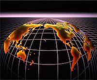 Globe on Grid    Stock Photo - Premium Rights-Managednull, Code: 700-00001457