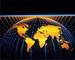 World Map and Grid    Stock Photo - Premium Rights-Managed, Artist: Imtek Imagineering, Code: 700-00003661