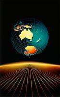 Globe Australia and South Pole    Stock Photo - Premium Rights-Managednull, Code: 700-00004550