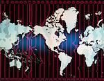World Map with Time Zones    Stock Photo - Premium Rights-Managed, Artist: Imtek Imagineering, Code: 700-00005860