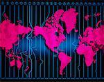 World Map with Time Zones    Stock Photo - Premium Rights-Managed, Artist: Imtek Imagineering, Code: 700-00005862
