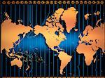 World Map with Time Zones    Stock Photo - Premium Rights-Managed, Artist: Imtek Imagineering, Code: 700-00005864