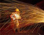 Steelworker in Melt Shop in Steel Mill Stock Photo - Premium Rights-Managed, Artist: Greg Stott, Code: 700-00009444