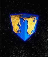 Cube World Map    Stock Photo - Premium Rights-Managednull, Code: 700-00009478
