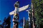 Totem Poles, Stanley Park Vancouver, BC, Canada    Stock Photo - Premium Rights-Managed, Artist: J. A. Kraulis, Code: 700-00009783
