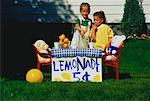 Girls at Lemonade Stand    Stock Photo - Premium Rights-Managed, Artist: Rommel, Code: 700-00011265
