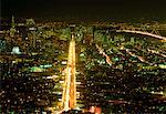 Overview Of San Francisco At Night California, USA    Stock Photo - Premium Rights-Managed, Artist: J. A. Kraulis, Code: 700-00011958