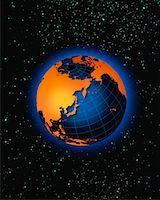 Globe Pacific Rim    Stock Photo - Premium Rights-Managednull, Code: 700-00012091