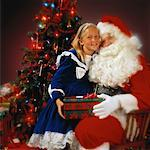 Portrait of Santa Claus with Young Girl