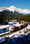 Canadian Pacific Railways Freight Train, Banff National Park Alberta, Canada