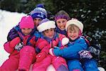 Children Outdoors in Winter