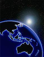 Globe and Starburst Pacific Rim    Stock Photo - Premium Rights-Managednull, Code: 700-00014825
