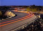 Light Trails on Road at Dusk Canyonlands National Park Utah, USA    Stock Photo - Premium Rights-Managed, Artist: Daryl Benson, Code: 700-00015720