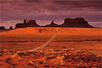 Overview of Landscape at Sunset Monument Valley, Arizona, USA    Stock Photo - Premium Rights-Managednull, Code: 700-00016128