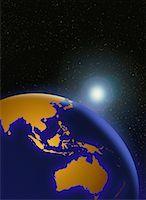 Globe and Star Pacific Rim    Stock Photo - Premium Rights-Managednull, Code: 700-00016750