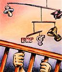Illustration of Educational Symbols Hanging from Mobile in Crib    Stock Photo - Premium Rights-Managed, Artist: James Wardell, Code: 700-00017320