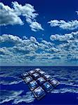 Telephone Keypad and Ocean    Stock Photo - Premium Rights-Managed, Artist: Paul Terpanjian, Code: 700-00017410