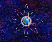 Globe in Space Pacific Rim    Stock Photo - Premium Rights-Managednull, Code: 700-00017445