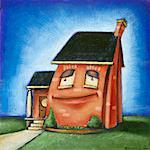 Illustration of Smiling House    Stock Photo - Premium Rights-Managed, Artist: James Wardell, Code: 700-00017569