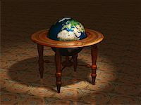 Globe on Stand Europe and Africa    Stock Photo - Premium Rights-Managednull, Code: 700-00018274
