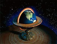 Globe with Stand in Space North America    Stock Photo - Premium Rights-Managednull, Code: 700-00018277
