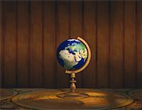 Globe on Stand Europe & Africa    Stock Photo - Premium Rights-Managednull, Code: 700-00018280