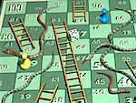 Snakes and Ladders Game Board    Stock Photo - Premium Rights-Managed, Artist: Rick Fischer, Code: 700-00019444