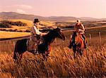 Cowboys on Horseback Douglas Lake Ranch British Columbia, Canada