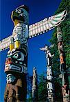 Totem Poles, Stanley Park Vancouver, BC, Canada    Stock Photo - Premium Rights-Managed, Artist: J. A. Kraulis, Code: 700-00020017