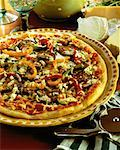 Pizza    Stock Photo - Premium Rights-Managed, Artist: Michael Mahovlich, Code: 700-00020399