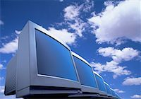 Line of Computer Monitors    Stock Photo - Premium Rights-Managednull, Code: 700-00020945