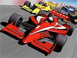 Formula Racing Cars    Stock Photo - Premium Rights-Managed, Artist: Rick Fischer, Code: 700-00021044