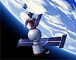 Space Satellite    Stock Photo - Premium Rights-Managed, Artist: Rick Fischer, Code: 700-00021417
