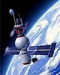 Space Satellite    Stock Photo - Premium Rights-Managed, Artist: Rick Fischer, Code: 700-00021418