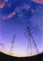 Transmission Towers at Sunset    Stock Photo - Premium Rights-Managednull, Code: 700-00022166