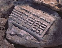 Fossilized Computer Keyboard    Stock Photo - Premium Rights-Managednull, Code: 700-00022369