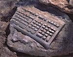 Fossilized Computer Keyboard    Stock Photo - Premium Rights-Managed, Artist: Pierre Tremblay, Code: 700-00022369