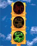 Traffic Signal with Circuit Board Lights    Stock Photo - Premium Rights-Managed, Artist: Guy Grenier, Code: 700-00022809