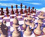 Chessboard with Pieces    Stock Photo - Premium Rights-Managed, Artist: Rick Fischer, Code: 700-00023681