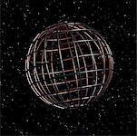 Wire Globe in Starry Sky