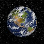 Globe in Starry Sky North and South America    Stock Photo - Premium Rights-Managed, Artist: Rick Fischer, Code: 700-00024708