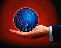 Hand Holding Globe Asia    Stock Photo - Premium Rights-Managednull, Code: 700-00024715