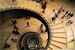 Looking Down at People Walking On Spiral Staircase    Stock Photo - Premium Rights-Managed, Artist: Roy Ooms, Code: 700-00025330