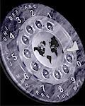 World Map on Rotary Telephone Dial    Stock Photo - Premium Rights-Managed, Artist: Guy Grenier, Code: 700-00025387