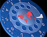 World Map on Rotary Telephone Dial    Stock Photo - Premium Rights-Managed, Artist: Guy Grenier, Code: 700-00025388