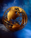 Wire Globe North and South America    Stock Photo - Premium Rights-Managed, Artist: Didier Dorval, Code: 700-00026200