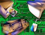 Computer Components on Circuit Board    Stock Photo - Premium Rights-Managed, Artist: Boden/Ledingham, Code: 700-00026770