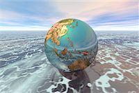 Globe Pacific Rim    Stock Photo - Premium Rights-Managednull, Code: 700-00028197