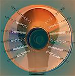 Light Bulb, Binary Code and Compact Disc
