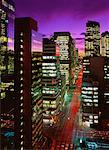 Cityscape at Night Calgary, Alberta, Canada    Stock Photo - Premium Rights-Managed, Artist: Roy Ooms, Code: 700-00028424